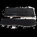 Apoio de teclado ergonômico  para o punho  10 X 48 cm -  Preto sem personalização - FRETE GRÁTIS
